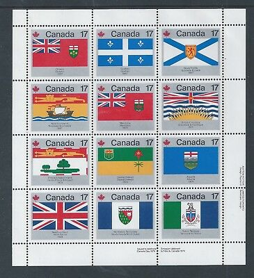 Canada Provincial & Territorial Flags #832a LR Full Pane MNH ** Free Shipping **