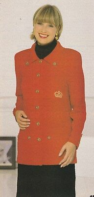 Lady's Jacket Pattern For Machine Knitting