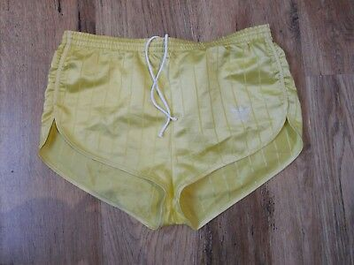 Vintage Women's Adidas Shiny Nylon Shorts West Germany Glanz Sz D38 12 (S240)