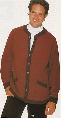 Lady's Or Gents Jacket Pattern For Machine Knitting