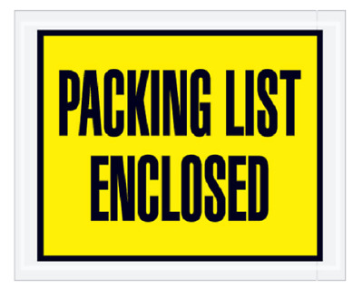 "Pick Quantity 1-3000 Yellow Packing List Enclosed Envelopes 4.5x5.5"" Peel&Stick"
