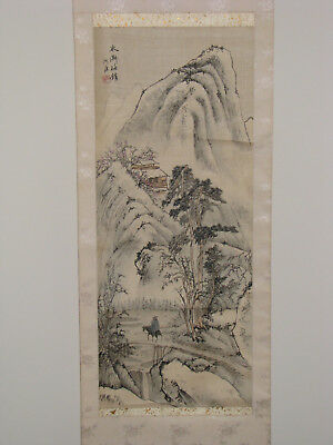 Chinese Hanging Scroll- Weary Traveler Homebound