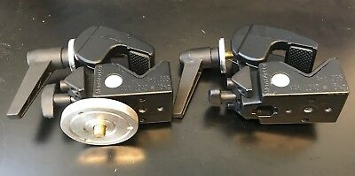 Lot of Two (2) Manfrotto Art. 035 Super Clamps (Black)