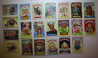 Garbage Pail Kids job lot of 21 vintage UK cards from the 1980s