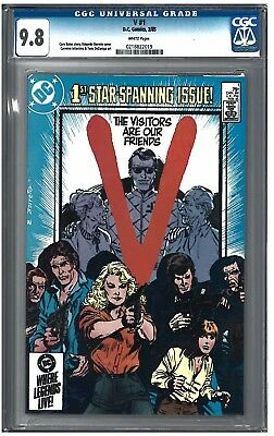 V#1 CGC 9.8 (2/85) DC Comics white pages