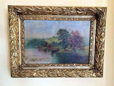 Early 19th Century Guild Framed Oil on Canvas Painting