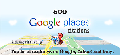 500 Google Map Citations with Backlinks for Local SEO. Google Rank, SEO