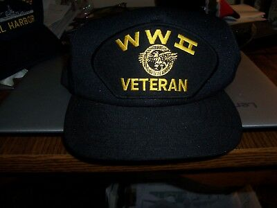 Hat    Wwii    Veteran    Blue     Unused