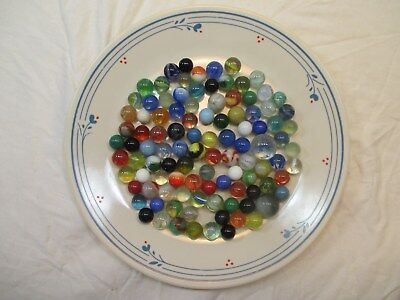 Lot Of 100 Antique, Vintage & Contemporary American Machine Made Marbles