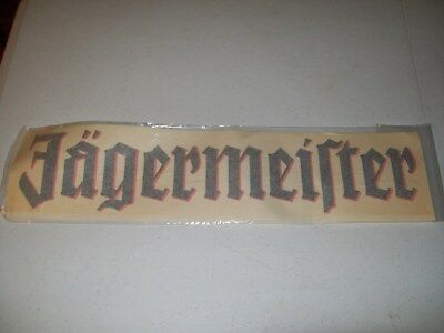 """JAGERMEISTER TRANSFER LETTERS / DECAL / 19.5"""" x 4"""""""