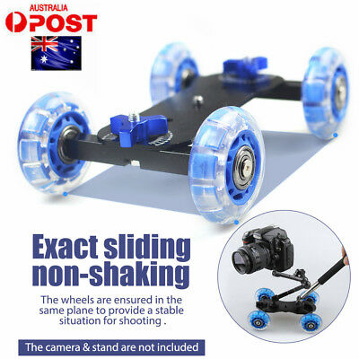 Car Skater Wheel Table Top Dolly Track Slider for DSLR Camera Camcorder Silicone