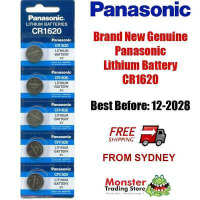 5 x CR1620 3V LITHIUM BUTTON COIN BATTERY BRAND NEW GENUINE EXPIRES: 12/2028