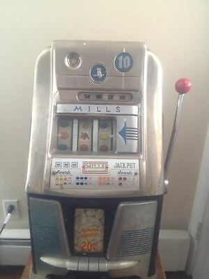 Mills Antique 10 Cent Slot Machine - Owl - Working - Local Pick-up