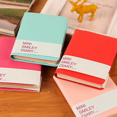 Journals Diary Notebook Memo Planner Portable Mini Smile Smiley Paper Note Books