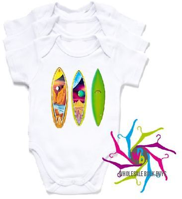 Wholesale Bulk Lot Baby Rompers - Surf Boards X 4