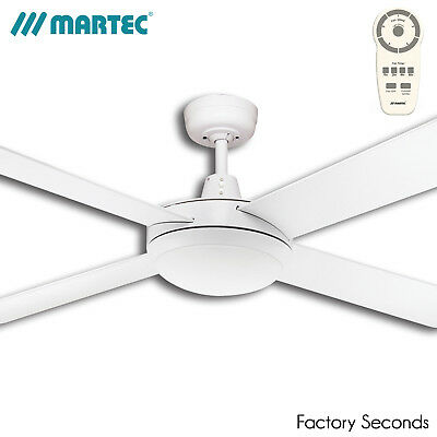 "Martec White Lifestyle 52"" 1300mm DC Ceiling Fan with 24W LED Light and Remote"