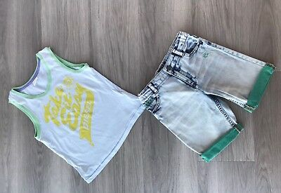 Diesel T Shirt And Mayoral Boy's Jeans Shorts Size 6