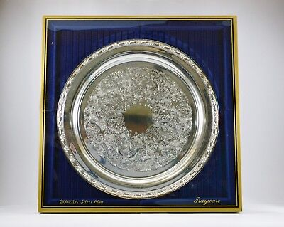 New Large Round Silver plate Tray (Silverplate, Hollowware) by ONEIDA