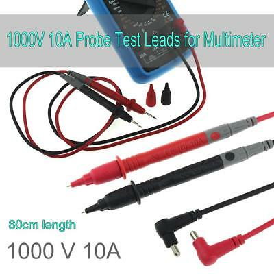 80cm 1 Pair Universal 1000V 10A Probe Test Leads for Multimeter Meter