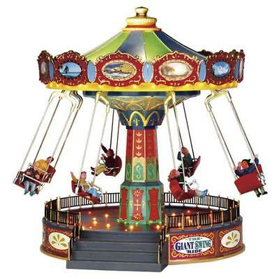 NEW Lemax The Giant Swing Ride Village Carnival Ride O SCALE LIONEL, MTH TRAIN