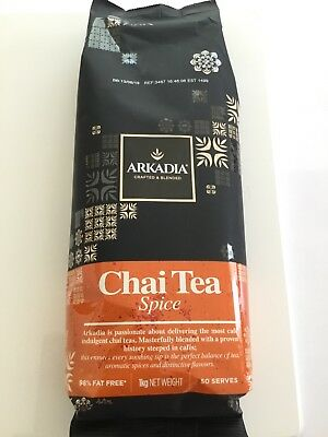 Arkadia 2 x1kg Chai Spice Tea for Cafes or Home use FREE DELIVERY