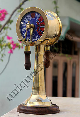 Nautical Vintage Brass Telegraph Ship Engine Room Marine Bell Sound Gift Item.