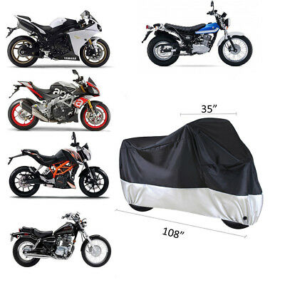 L/XL/XXL Outdoor Motorcycle Motorbike Cruiser Scooter Waterproof UV Dust Cover