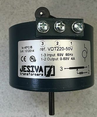 Variador Transformador TENSION 0/50 v 4 A 50 Hz VDT220 88 mm JESIVA Hecho España