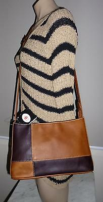 Vintage Genuine Hand Tanned Leather Tan/brown With Long Adjustable Strap