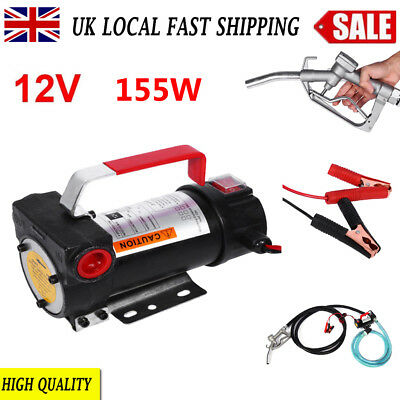 Portable 12V 155W Diesel Fluid Extractor Electric Transfer Pump Car Fuel UK Sale