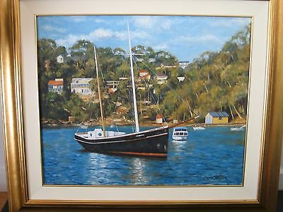 Craig Taylor Old Boat On The Port Hacking River Collectable Art Artwork