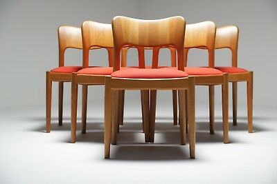 """Vintage set of 6 """"Ole"""" dining chairs by John Mortensen"""