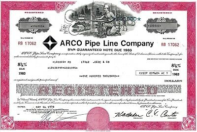 Arco Pipe Line Company 1978, 8 3/8% Guaranteed Note due 1983 (100.000 $)