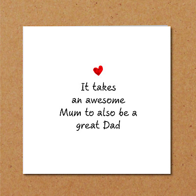 Single Mum Birthday Day Card - Awesome Amazing Happy Dad Fun Funny Clever Love