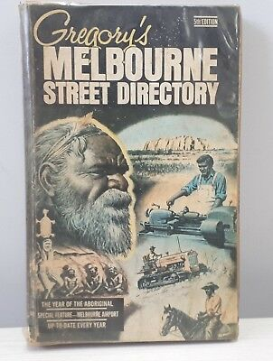 """Vintage GREGORY'S """"5TH Edition"""" Melb Street Directory – Maps, Auto, Transport"""