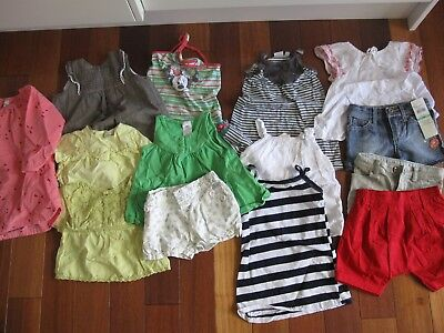 14 x Bulk Girls Clothing (Guess,Marie Claire,Bebe) Sz 1-2 yrs (Some with tags!)