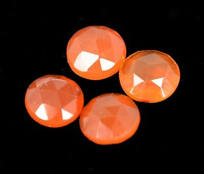 Natural Certified 1.35 Ct. / 4 Pcs. of Orange Carnelian Round Cut  Gems U-1786