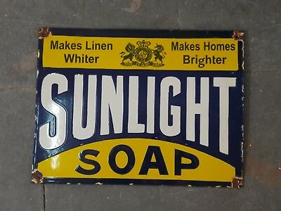 "Porcelain SUNLIGHT SOAP Sign SIZE 16"" X 12"" INCHES"