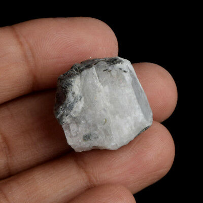 EGL Certified 46.50 Ct. Natural White Rainbow Raw Rough Loose Gemstone AU-403