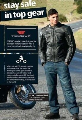Torque Motorcycle Aramid Lined Denim Jeans Knee Ce Armour