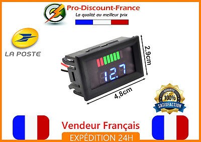 Indicateur De Tension Voltmètre 12V Digital Batterie Voiture Arduino Voltage