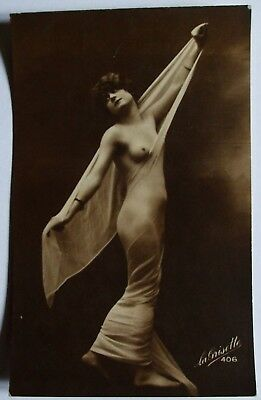 Vintage Original Glamour Risque Nude Postcard Style Picture - Ref 406(F)