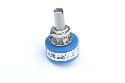Bourns 6639S-1-102 Potentiometer with 6.35 mm Dia Shaft - Continious Turn 1k Ohm