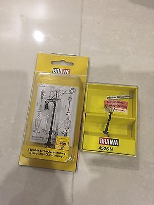 Brawa N Scale 4526 and 4604 Light Poles