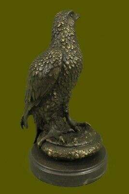 Hand Made Sculpture Eagle Bird Wildlife Art Decor Style Style Bronze Big