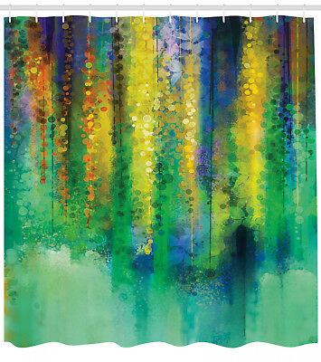 Shower Curtain Abstract Art Spring Theme Watercolor Flower 70 Inches Long
