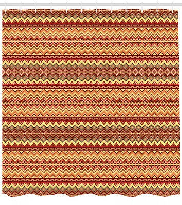 Abstract Design Ethnic Aztec Ornament Pattern Boho Style Fabric Shower Curtain