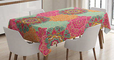 Vintage Decor Tablecloth Antique Mandala Rectangular Table Cover 60 X 90 Inches