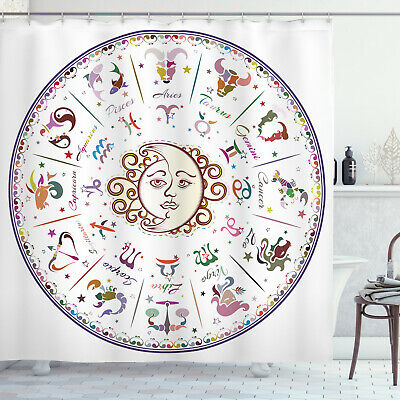 Forecast Shower Curtain Astrology Zodiac Sign Print For Bathroom 70 Inches Long