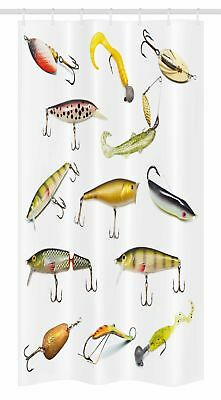 "Fish Stall Shower Curtain Hunting Sea Animals Theme Print for Bathroom 36""x72"""